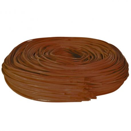 Rouleau midollino marron - 2 mm