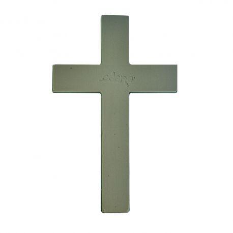 Croix mousse florale EDEN 50 cm base plastique
