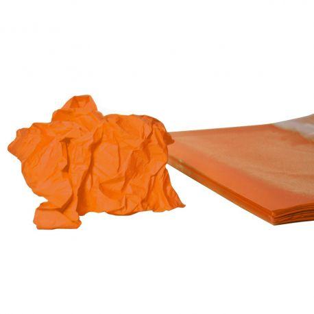 Rame mousseline 18gr orange 50x75 cm x240 feuilles