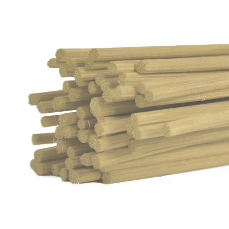 Batons midollino naturel : 3 mm x 80 cm