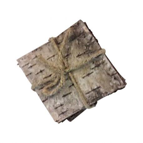 Plaque d'écorce de bois naturel 15x15cm 10pièces