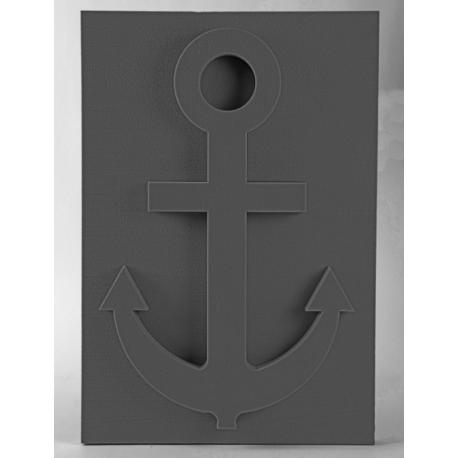 Ancre marine 110x75 cm mousse noire Oasis