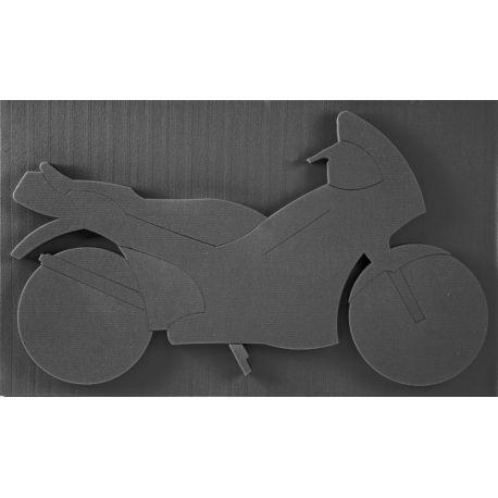 Moto 100x60 cm mousse noire Oasis