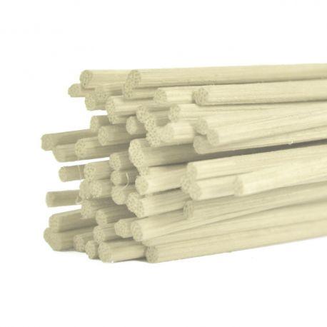 Batons midollino blanchi : 3 mm x 80 cm