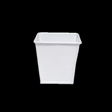 Pot en ZINC blanc - 8x8x8cm