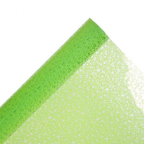 Gaine motif filet vert 80 cm x 50 m