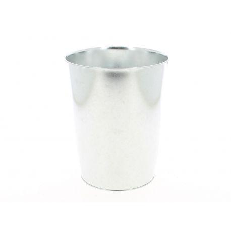 Seau anse en zinc naturel D 17/13 cm H 21 cm