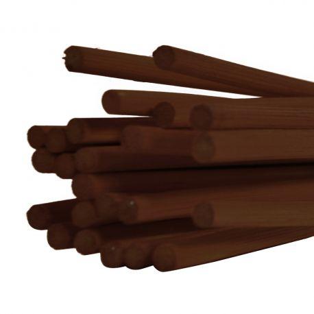 Batons midollino marron : 5 mm x 80 cm